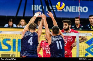 Volleyball match between Iran and USA